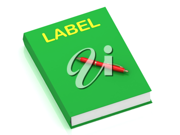 Royalty Free Clipart Image of a Book With the Word Label