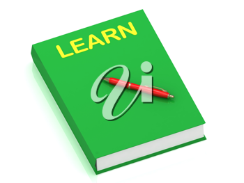 Royalty Free Clipart Image of a Book With the Word Learn