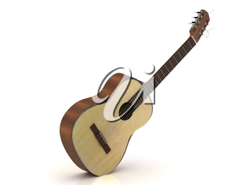 Classical acoustic guitar with copper strings
