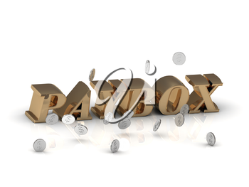 PAYBOX - inscription of gold letters on white background