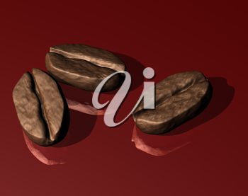 Royalty Free Clipart Image of Coffee Beans