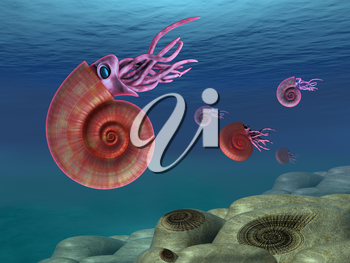 Royalty Free Clipart Image of an Ocean Creature