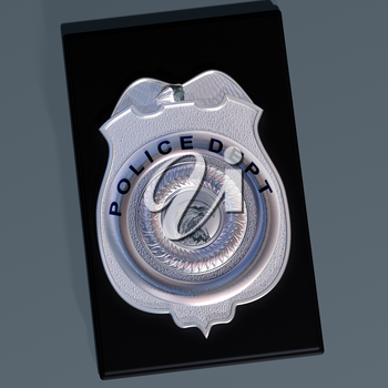 Royalty Free Clipart Image of a Police Badge