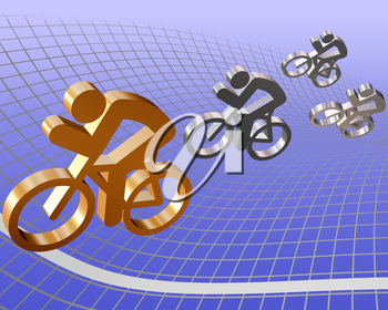 Royalty Free Clipart Image of Bicycle Symbols