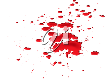 Royalty Free Clipart Image of a Blood Splat