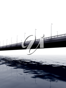 Royalty Free Clipart Image of a Bridge