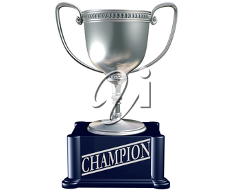 Royalty Free Clipart Image of a Trophy