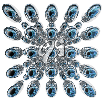 Royalty Free Clipart Image of a Eye Balls