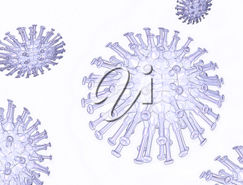 Royalty Free Clipart Image of a Virus