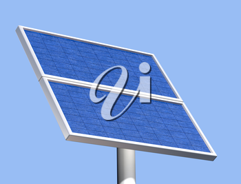Royalty Free Clipart Image of a Solar Panel
