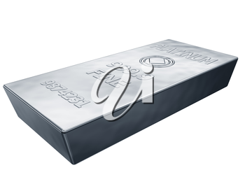 Royalty Free Clipart Image of a Platinum Money Bar
