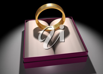 Royalty Free Clipart Image of a Gold and Silver Ring