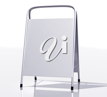 Royalty Free Clipart Image of a Whiteboard