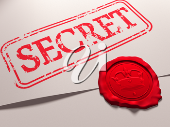 Royalty Free Clipart Image of a Secret Document with a Seal