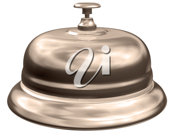 Isolated illustration of an old fashioned hotel table bell