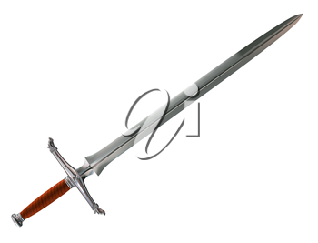 Royalty Free Clipart Image of a foreboding Norman battle sword