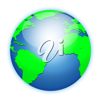 Earth planet globe icon. Elements of this image furnished by NASA. http://visibleearth.nasa.gov