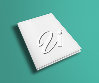 Blank book cover template on trendy flat background with shadows. Highly detailed illustration.