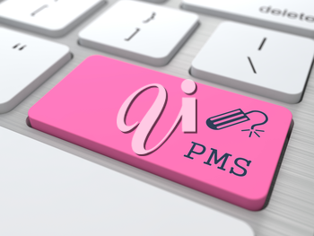 PMS (premenstrual  syndrome) on Red Button. Humorous Warning.