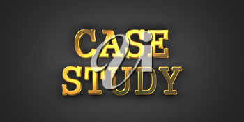Professional Education. Gold Text on Dark Background. Business Concept. 3D Render.