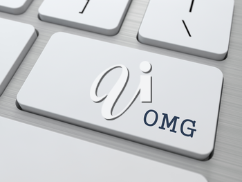 OMG - Oh My God. Internet Concept. Button on Modern Computer Keyboard.
