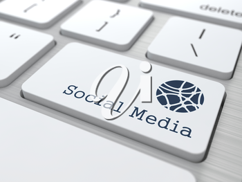 Social Media Concept. Button on Modern Computer Keyboard with Word Partners on It.