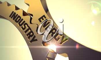 Energy Industry - Industrial Illustration with Glow Effect and Lens Flare. 3D Render.