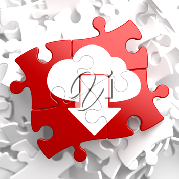 Royalty Free Clipart Image of a Cloud Puzzle