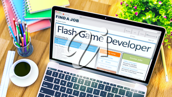 Flash Game Developer - Get a New Employment Here. Find a Job. 3D Rendering.