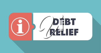 Debt Relief Concept in Flat Design with Long Shadows.