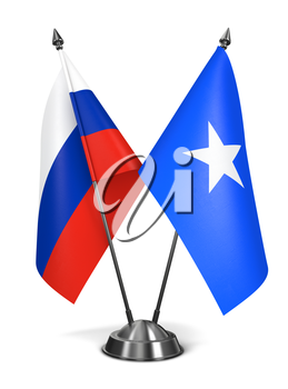 Royalty Free Clipart Image of Russia and Somalia Miniature Flags