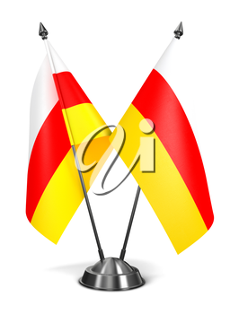 Royalty Free Clipart Image of Two Georgia Miniature Flags