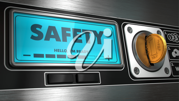 Safety - Inscription on Display of Vending Machine.