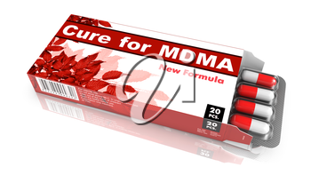 Cure for MDMA - Red Open Blister Pack Tablets Isolated on White.