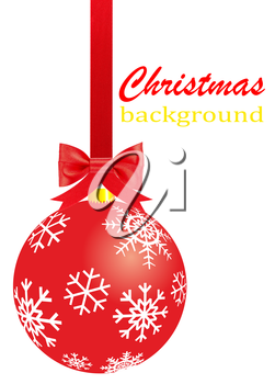 Royalty Free Clipart Image of a Christmas Ornament Background