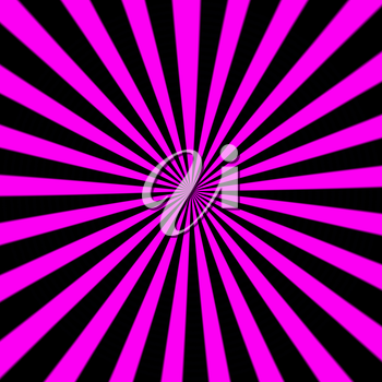Starburst background, sunbeams going in all directions, pink and black