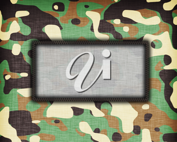 Amy camouflage uniform with room for text