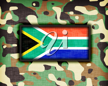 Amy camouflage uniform with flag on it, South Africa