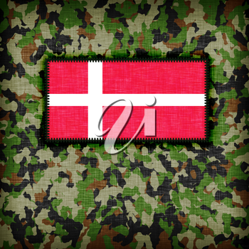 Amy camouflage uniform with flag on it, Denmark