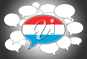 Communication concept - Speech cloud, the voice of Luxembourg