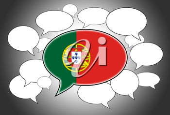 Communication concept - Speech cloud, the voice of Portugal