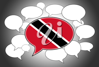 Communication concept - Speech cloud, the voice of Trinidad and Tobago