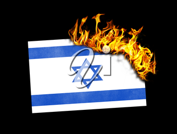 Flag burning - concept of war or crisis - Israel