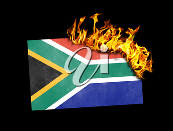 Flag burning - concept of war or crisis - South Africa