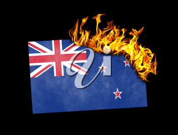 Flag burning - concept of war or crisis - New Zealand