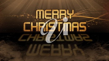 Gold quote with mystic background - Merry Christmas