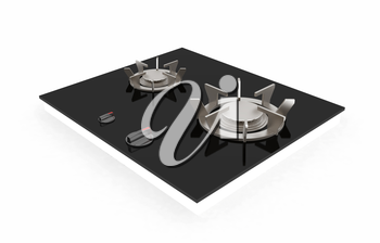 3d gas-stove on a white background