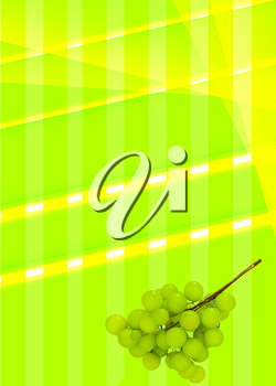 background of colored bands with grapes