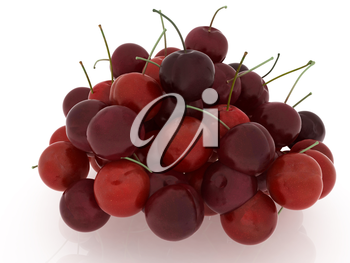 Sweet cherry on a white background