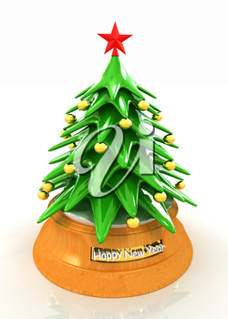 Christmas tree on a white background
